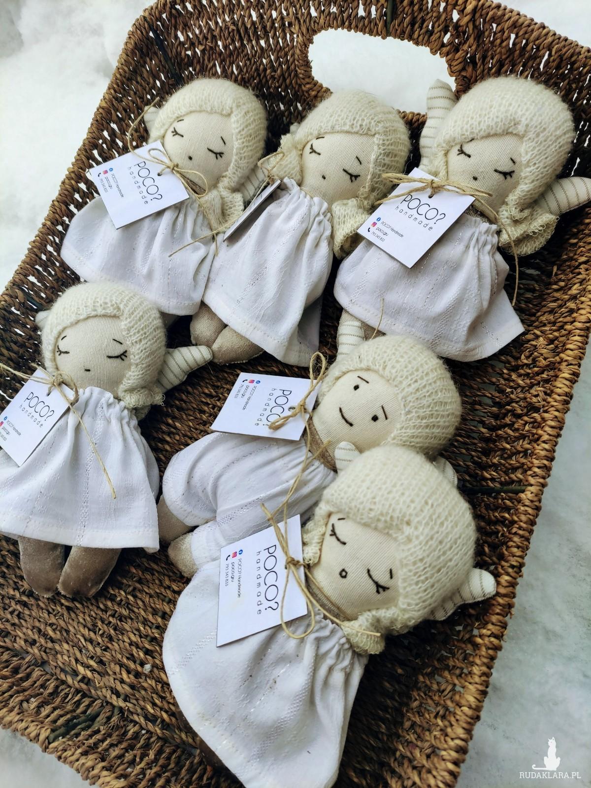 Przytulanka Aniołek dziewczynka, lalka handmade