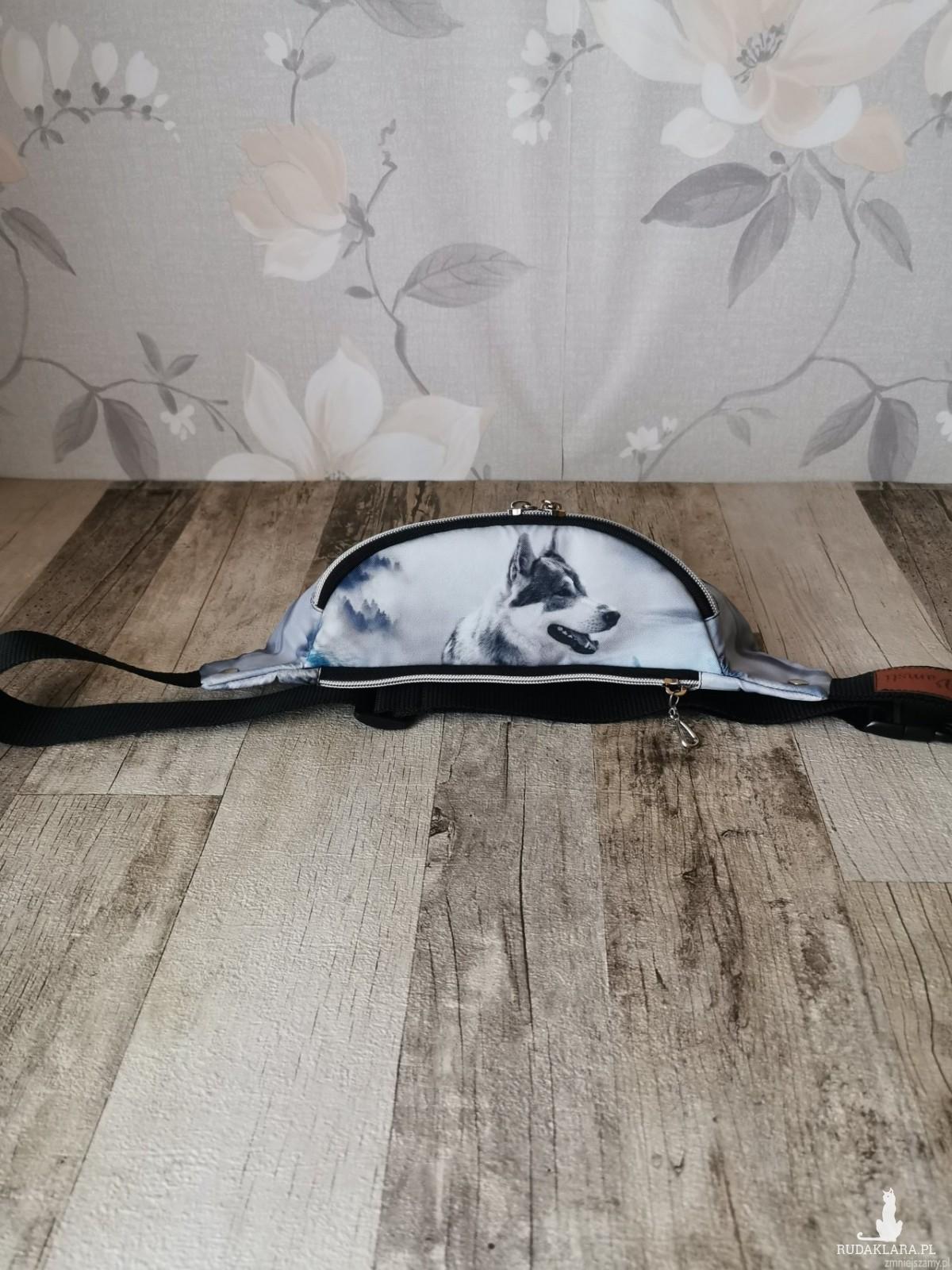 Nerka saszetka biodrowa wodoodporna handmade torebka na pas torebka na ramię torba mini wilk