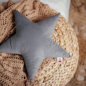 poduszka gwiazdka szara