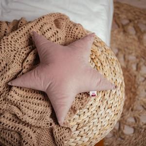 poduszka gwiazdka liliowa