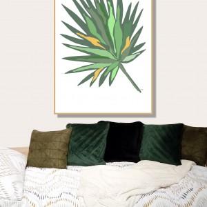 """""""Liść tropikalny"""" grafika autorska, dekoracja na ścianę 30 x 40"""