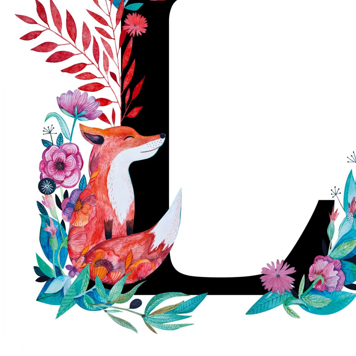 Alfabet litera L 50x70