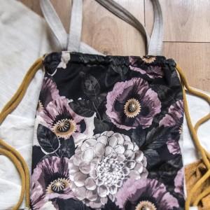 Plecak torba 2w1 w różowe maki