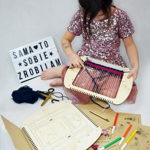 Krosno tkackie dla dzieci - Lama Loom - zabawka edukacyjna