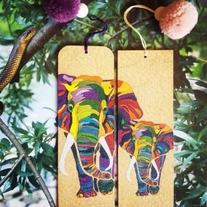 Zakładka do książki Słonie