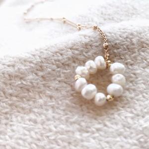 Naszyjnik z perłową zawieszką