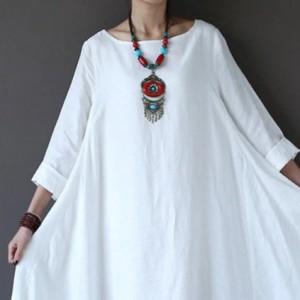 biała  sukienka oversize bawełna – sukienka rozmiar L-PREZAMÓWIENIE