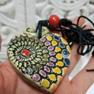 Naszyjnik kolorowe serce