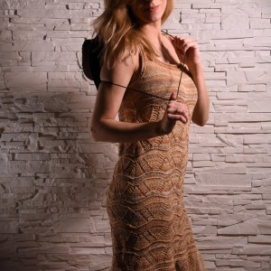 PIASEK letnia sukienka ażurowa
