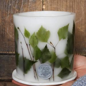 Szumią brzozy- lampion z ceramiczną podstawką
