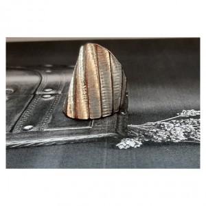 109 pierścionek vintage, mosiądz posrebrzany, duży, efektowny, dla niej lub dla niego