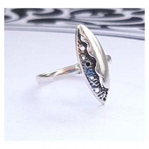 113 pierścionek vintage, srebrny pierścionek,