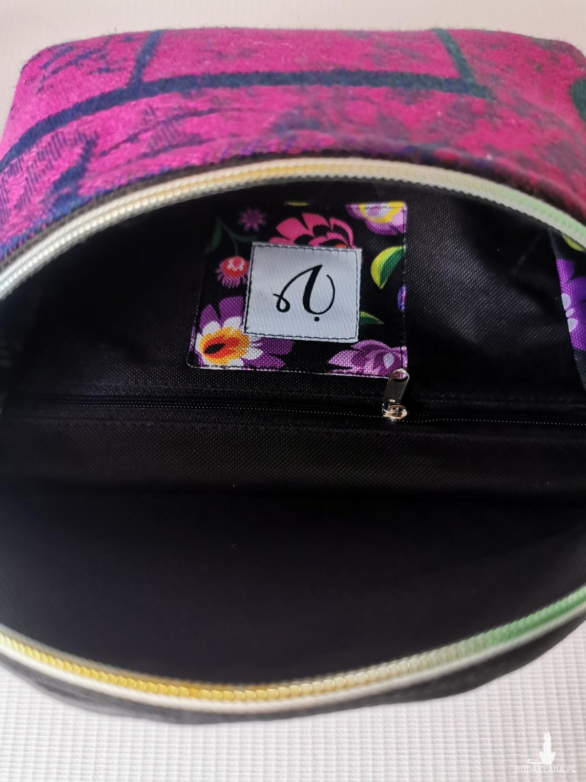 Nerka saszetka biodrowa wodoodporna handmade torebka na pas torebka na ramię mini torebka ekoskóra chusta Symfonia - Pragnienie  rozmiar L