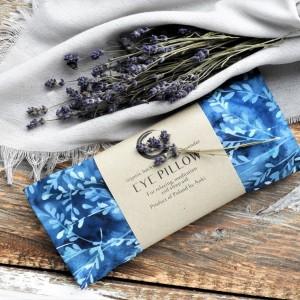 Aromaterapeutyczna poduszka na oczy - niebieska