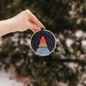 Tamborek dekoracyjny Marzycielka Zimowa