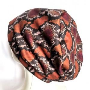 czapka skóra węża etno boho