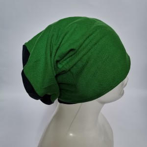 czapka wiosenna zielono granatowa