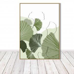 Grafika autorska - miłorząb liście