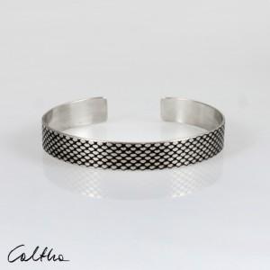 Rybia łuska - metalowa bransoletka 210422-03