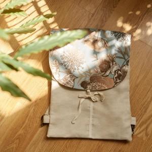 Plecak z klapą ptasi dwór