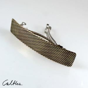 Rybia łuska - mosiężna klamra do włosów 210423-02