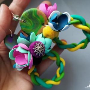 klipsy  kwiaty orient totalne szalenstwo