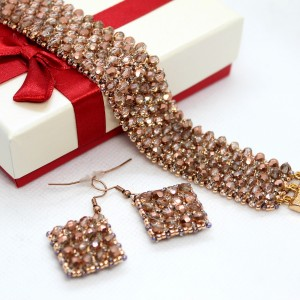 Komplet biżuterii z kryształków - caprice