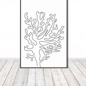 """Grafika prosta, nowoczesna, minimalistyczna """"Koral"""""""
