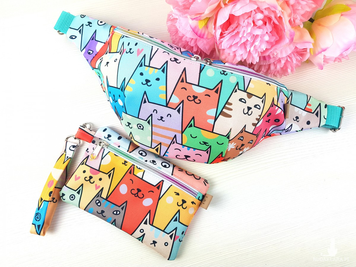 Nerka XL w kolorowe koty