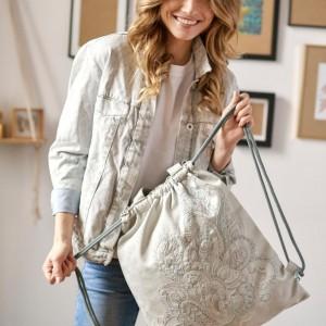 Plecak torba 2w1 z haftem