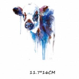 Naklejka naprasowanka na bluzkę, kurtke, torbę krowa