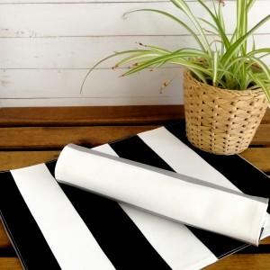 Podkładka pod talerz,podkładka na stół,czarne pasy