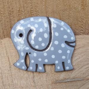 Broszka ceramiczną--Słoń Kropek