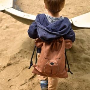 Plecak śpiący miś dla przedszkolaka