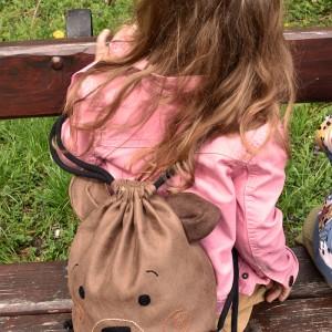 Plecak brązowy miś