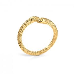 pierścionek WĄŻ- srebro złocone