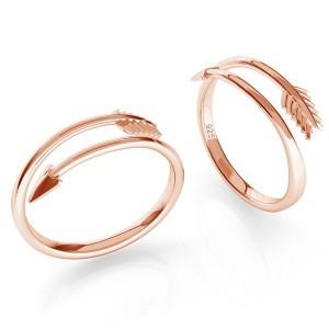 pierścionek STRZAŁA- różowe złoto