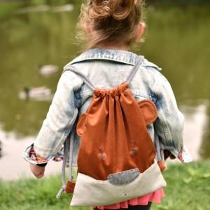 Dziecięcy plecak worek sarenka