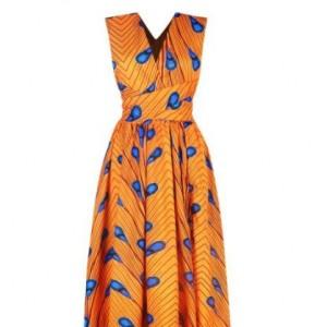 sukienka  kolorowa afrykański  M