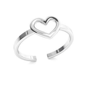 pierścionek SERDUSZKO- srebro