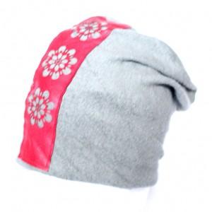 czapka szara z aplikacją etno