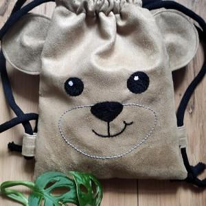 Mini plecak dziecięcy  beżowy miś