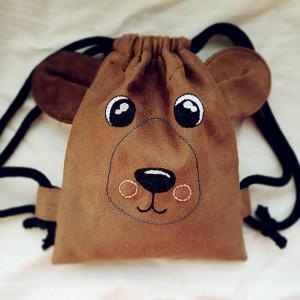 Mini plecak dziecięcy  brązowy miś