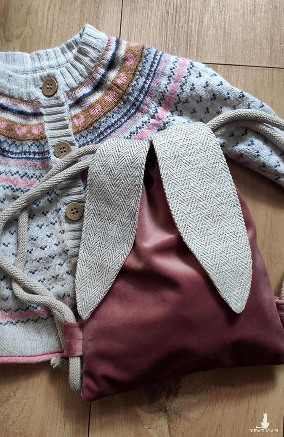 Mini plecak różowy króliczek