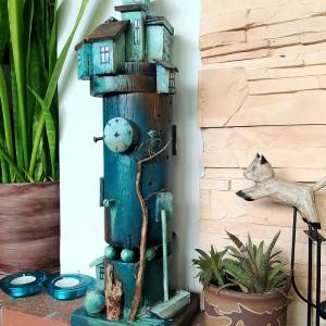 Turkusowa Wieża - dekoracja do domu