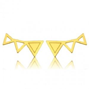 kolczyki TRIANGLES- złoto 585
