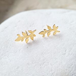kolczyki SPRIGS- srebro złocone