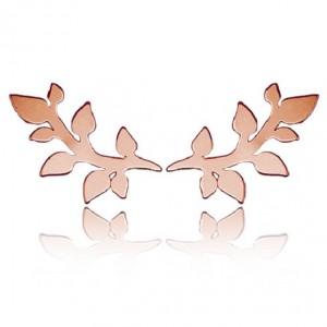 kolczyki SPRIGS- różowe złoto