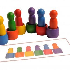 Układanka ludzik w beczce + schematy Montessori