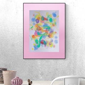 pastelowa grafika  na ścianę, abstrakcja do sypialni, abstrakcyjny rysunek do pokoju, minimalizm dekoracja kolorowa